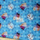 Disney Cotton Fabric Frozen Sisters Ice Skating