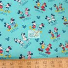 Disney Cotton Fabric Mickey & Minnie Mouse Toss Retro