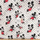 Disney Cotton Fabric Mickey Relaxes Toss