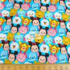Disney Cotton Fabric Tsum Tsum Mickey & Friends Emoji