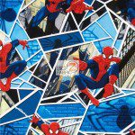 Marvel Comics Spider-Man Panes Cotton Fabric