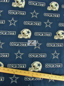 NFL Dallas Cowboys All Over Helmets Cotton Fabric