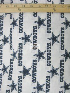 NFL Dallas Cowboys Stars Cotton Fabric