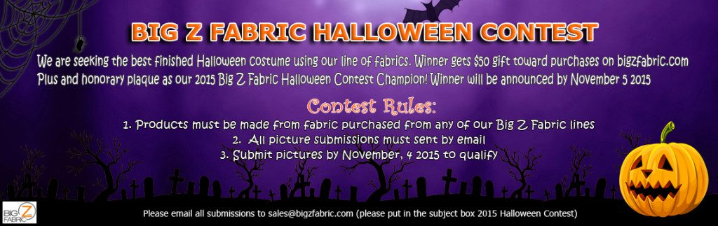 2015 Cotton Fabric Halloween Contest