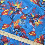 It's Superman Blue DC Comics Cotton Fabric