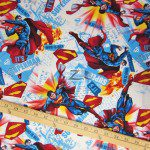 It's Superman White DC Comics Cotton Fabric