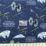 Star Wars The Force Awakens Galactic Combat Cotton Fabric