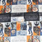 Star Wars The Force Awakens Movie Theme Cotton Fabric