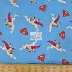 Superman DC Comics Cotton Fabric Krypto & Super Shield