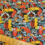 Superman DC Comics Cotton Fabric Stop Crime