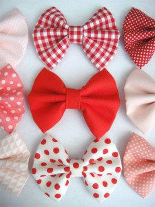 Assorted Poly Cotton Fabric Hair Bows