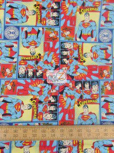 DC Comics Classic Superman Cotton Fabric