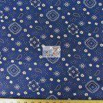Paisley Bandanna Cotton Printed Fabric Navy Blue
