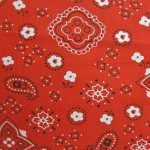 Paisley Bandanna Cotton Printed Fabric Red