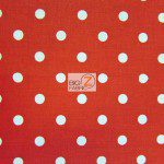 Polka Dot Cotton Fabric Red