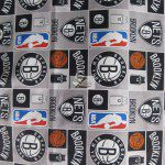 Licensed NBA Cotton Fabric Brooklyn Nets