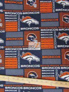 Denver Broncos Helmet Cotton Fabric
