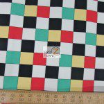 Benartex Cotton Fabric Arnolds Diner Checkered Board