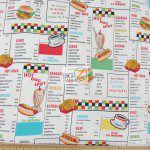 Benartex Cotton Fabric Arnolds Diner The Menu