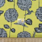 Benartex Cotton Fabric Lemon Tree Perch Floral Birds