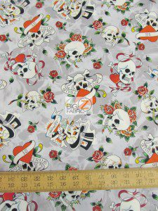 Ed Hardy Love Is True Cotton Fabric