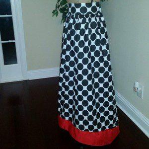 Giant Polka Dot Polycotton Fabric Dress