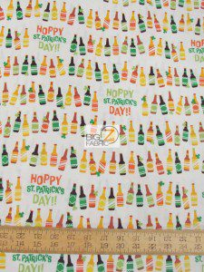 St Patrick's Day Hoppy Cotton Fabric