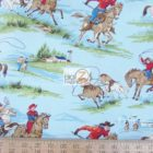 Western 100% Cotton Fabric Ride 'Em Cowboy Round Up