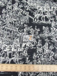 Deadwood Saloon Black Cotton Fabric By Alexander Henry