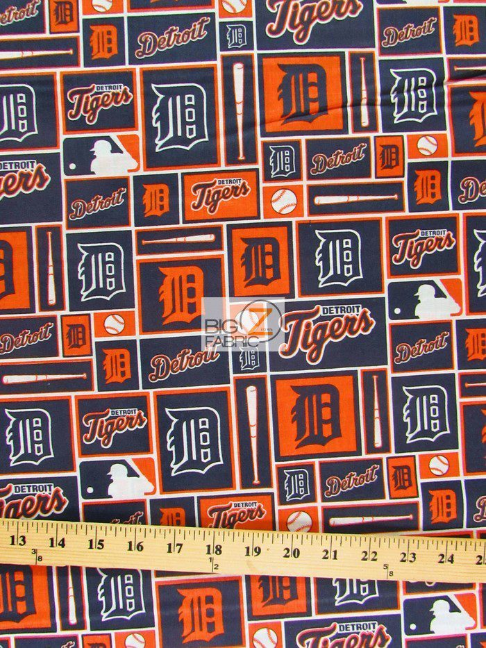 MLB Detroit Tigers Retro Cotton Fabric