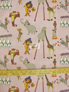 Madagascar 3 Europe's Most Wanted Circus Friends Pink Cotton Fabric