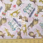 Madagascar 3 Europe's Most Wanted Circus Girls Pink Cotton Fabric