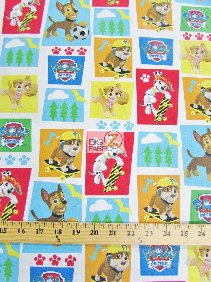 Paw Patrol Rad Pups Cotton Fabric