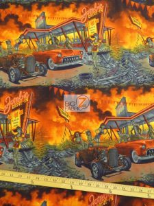 Alexander Henry Cotton Fabric Zombie Drive