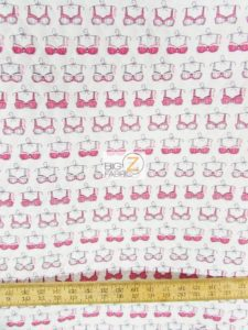 Cancer Awareness Quilting Cotton Foam Fabric White