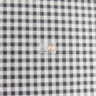 Mini Checkered Gingham Poly Cotton Fabric Black