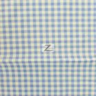Mini Checkered Gingham Poly Cotton Fabric Blue