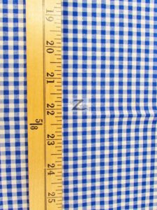 Mini Checkered Gingham Poly Cotton Fabric Measurement
