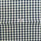 Mini Checkered Gingham Poly Cotton Fabric Navy