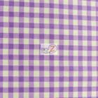 Mini Checkered Gingham Poly Cotton Fabric Purple