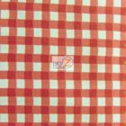 Mini Checkered Gingham Poly Cotton Fabric Red