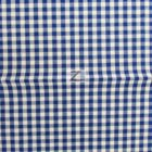 Mini Checkered Gingham Poly Cotton Fabric Royal