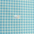 Mini Checkered Gingham Poly Cotton Fabric Turquoise