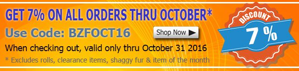 October 2016 Cotton Fabric Discount