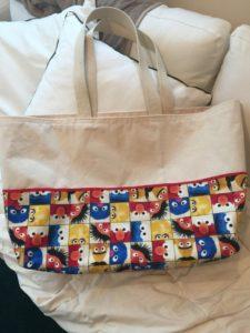 Sesame Street Cotton Tote Beach Bag