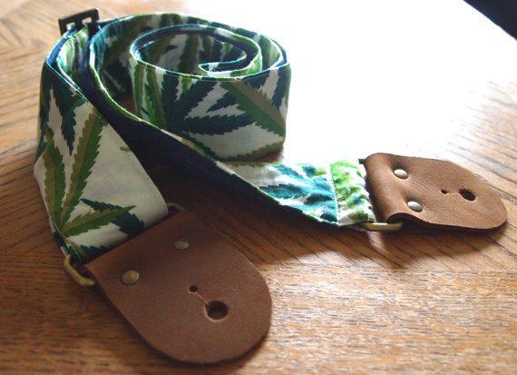Marijuana Cotton Guitar Strap
