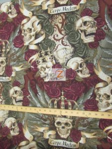 Skullduggery Royal Vintage Cotton Fabric