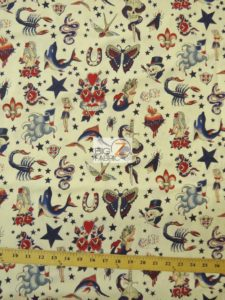 Tattoo Ivory Alexander Henry Cotton Fabric