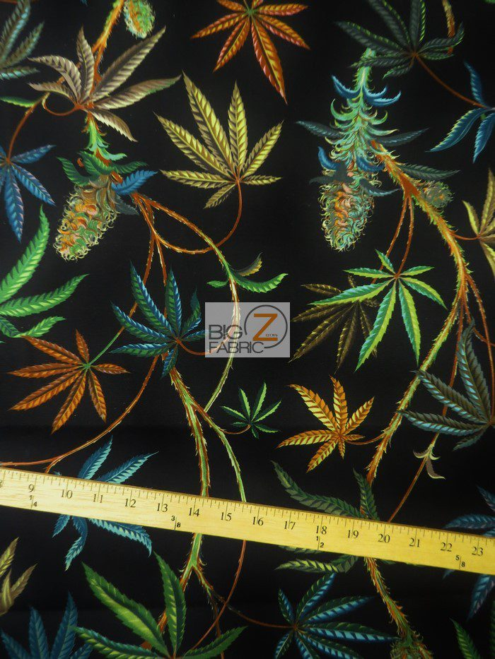 Cannabis Sativa Duck Cotton Fabric By Alexander Henry