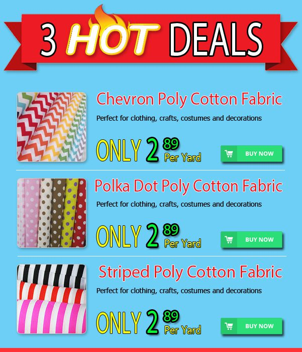 3 Hot Polycotton Fabric Deals